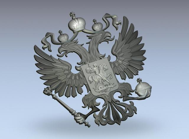 3d модель герба россии
